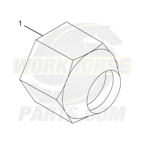 """00334387  -  Nut - Hex Head Wheel, 9/16""""-18"""