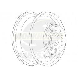 W0002405  -  Wheel Asm - 19.5x6, Offset 5.0, 8 Hole, White