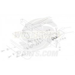 15597970  -  Bracket - Front Bumper Impact Bar, Outer