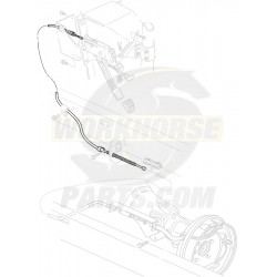 "15704057  -  Cable Asm - Park Brake Front (109.8"")"