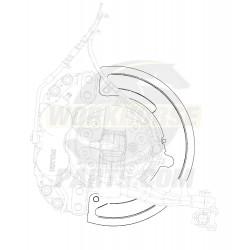 W0009973  -  Shield - Dust Brake Front Meritor 14x70 Quadraulic
