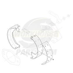 W8000143  -  Prop Shaft Park Brake Shoe Kit