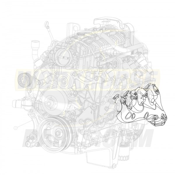12612390  -  Manifold Asm - Exhaust Left Hand