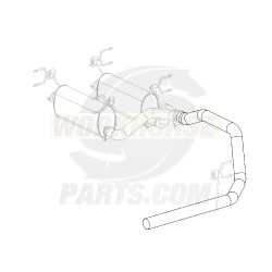 """W0005672  -  Pipe Asm - Exhaust, Single Tail, 4"""""""