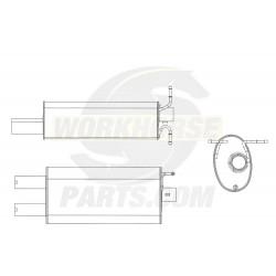 W0012318  -  Muffler Asm - Exhaust With Hangers