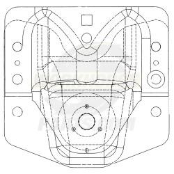 W0006208  -  Spring Hanger - Rear Spring (Front)
