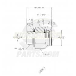 W0004934  -  Adaptor Power Steering Pump Inlet