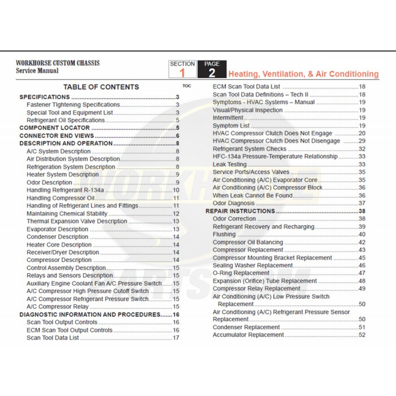 2005 2007 workhorse lf72 hvac service manual download
