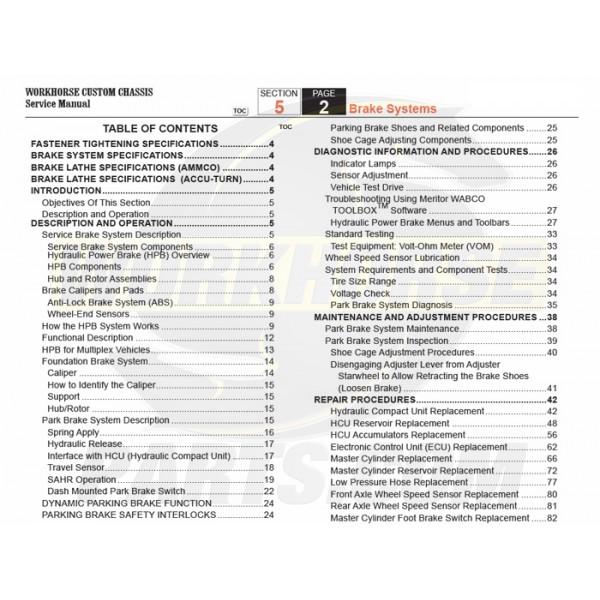 2007-2008 Workhorse R26 UFO Brakes Service Manual Download