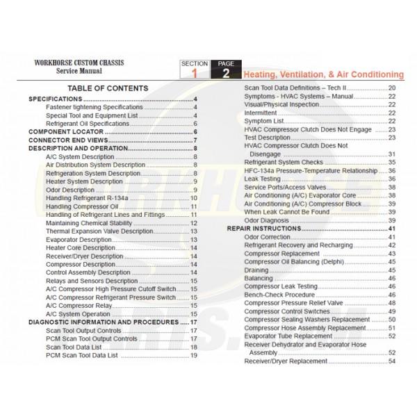 2007-2008 Workhorse R26 UFO HVAC Service Manual Download