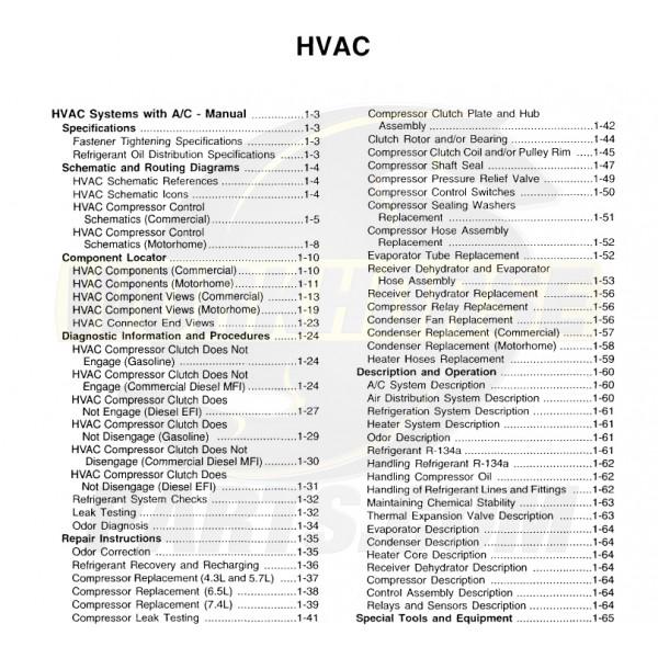 1999-2003 Workhorse HVAC Service Manual Download