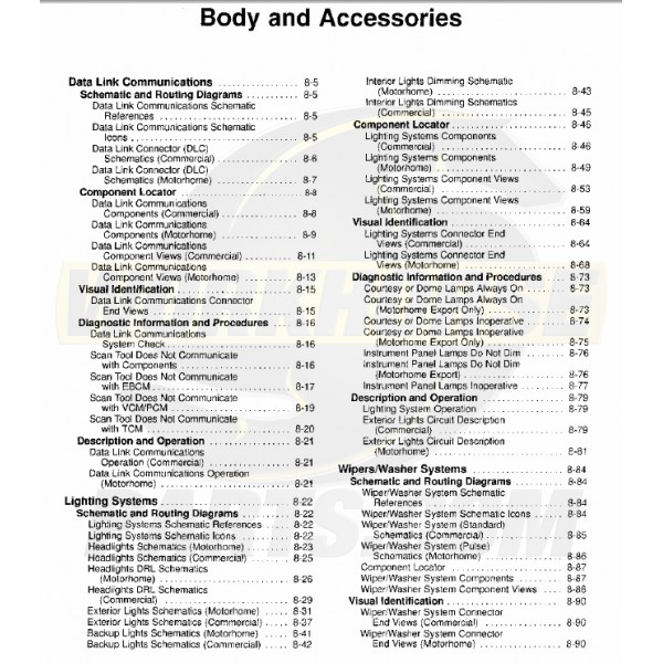 1999-2003 Workhorse Body & Accessories Service Manual Download
