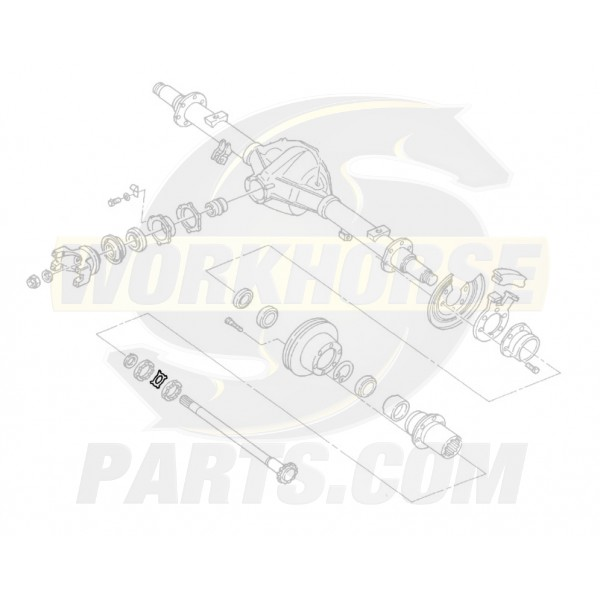 00473629  -  Lock - Rear Wheel Bearing Adjusting Nut