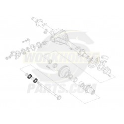 00473636  -  Nut - Rear Axle