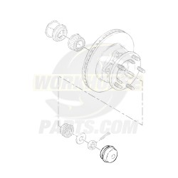15972552  -  Cap - Front Wheel Bearing Lubrication