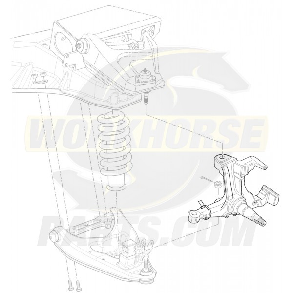 15993346 - Right Hand Knuckle & Spindle Asm (P32)