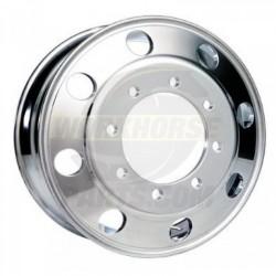 W0009566  -  Front Wheel - Aluminum, 22.5 x 7.5, Offset 6.28, 8 Hole (Outside Polished)