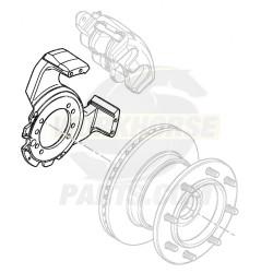 W8000370  -  Torque Plate - Brake Caliper Mount ZOH-T,  LH