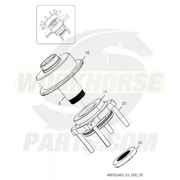 W8002483 - Hub & Spindle Assembly