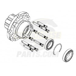 W8003806 - Rear Wheel Hub Assembly (Hub, Studs, Bearings, Bearing Circlip)