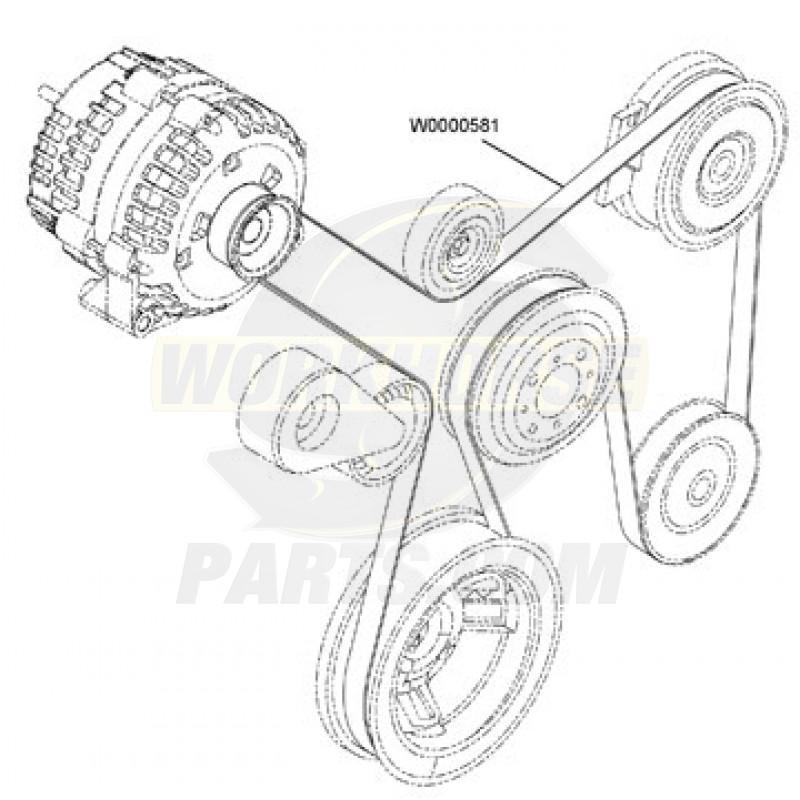 W0000581 - Workhorse W-Series 8 1L Serpentine Drive Belt
