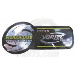 W0000711  - Workhorse 8.1L Vortec Label
