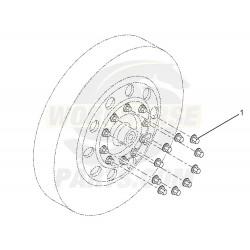 W0004837  -  Lug Nut Cover - Short, Aluminium, Fits 33mm Nut