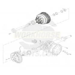 PDR0619  -  Drum - Rear Brake (P42 - JB8 - SRW)