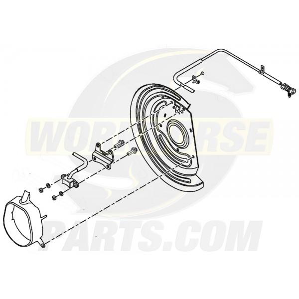 W0001016 - LF Abs Sensor & Splash Shield (P32)