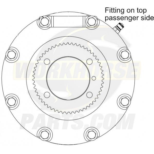 W8001662  -  J72 Hydraulic Propshaft Parking Brake Asm, Without Yoke (GM Transmission)