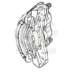 W8002911  -  Caliper Asm - Brake, Front, 2x68mm Brembo (Without Pads), Left Hand Side
