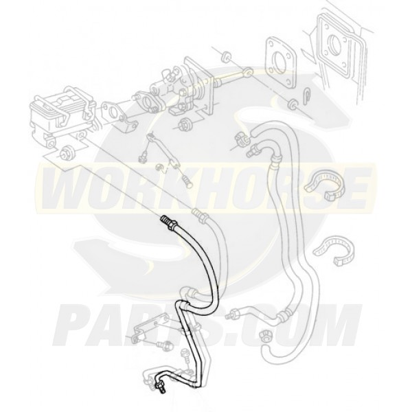W8006742  -  Pipe Asm - Brake Valve (Pressure Modulation)