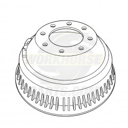 W8810500  -  Drum - Rear Brake (P42 - JB8 - DRW)