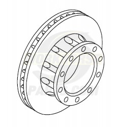 W8810507  -  Rotor - P32 / P42 Brake Rear (JF9 - 4 Wheel Disc)