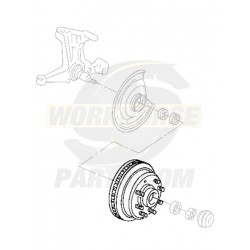 W8810510  -  Front Brake Rotor w/ Hub & Exciter Ring (JB8 - Disc/Drum w/ IFS)