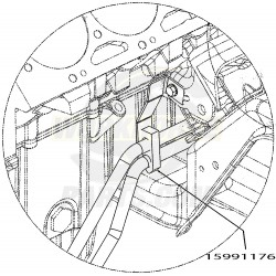 15991176  -  Clip- Transmission Oil Cooler Pipe