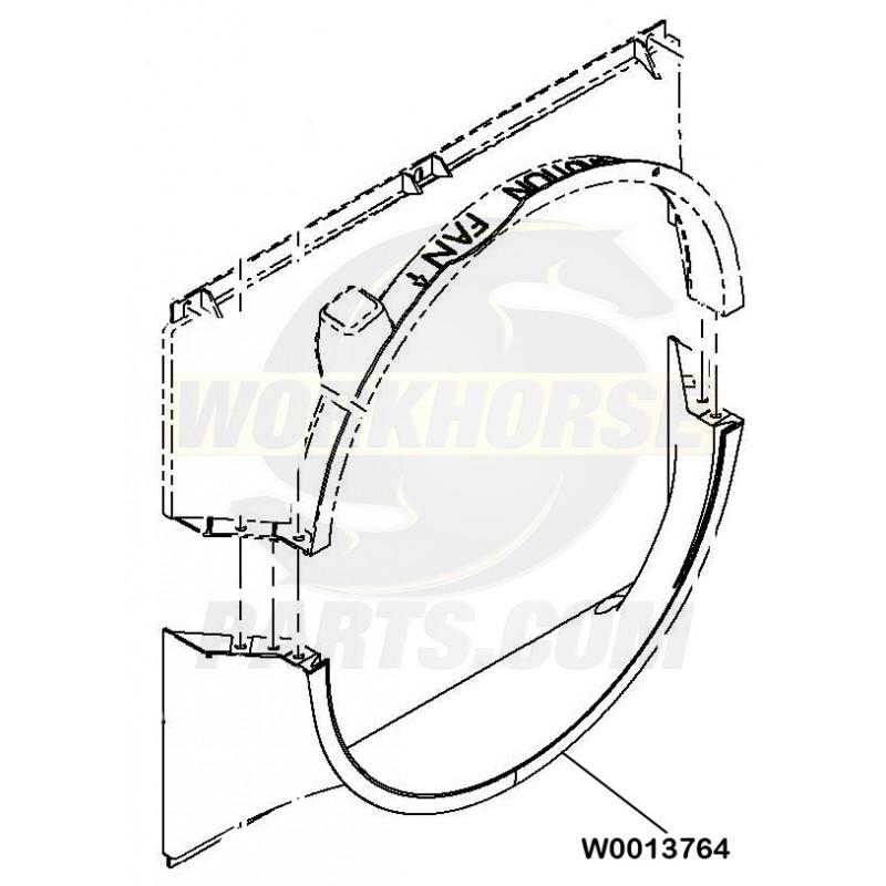 w0013764 - lower fan shroud asm
