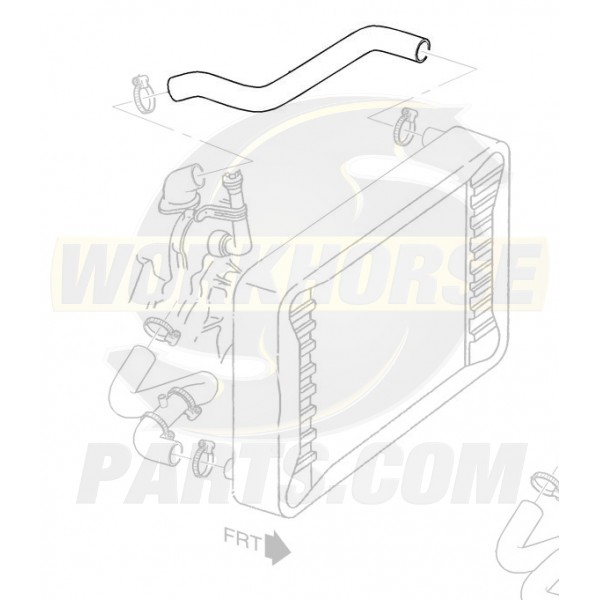 W8006619  -  Hose - Radiator Inlet (L57 - 6.5L Diesel)