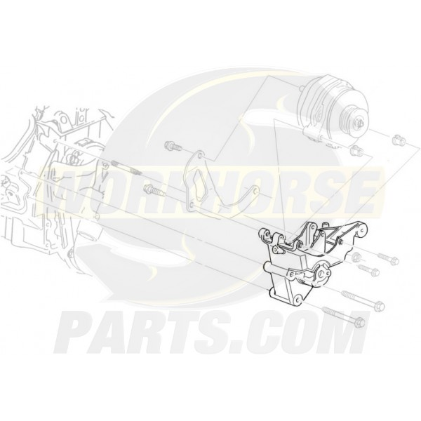10236997  -  Bracket Asm- Drive Belt Tensioner