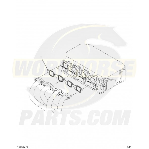 12558275 - 8.1L Exhaust Manifold Gasket