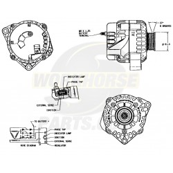 W8800111  - Alternator Asm (130 Amp)