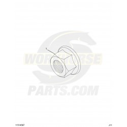 11514597 - Exhaust Pipe Flange Nut (Manifold & Muffler Connection)