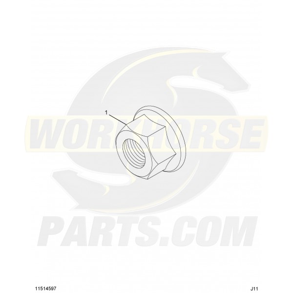 11514597 - 8.1l Factory Exhaust Manifold To Pipe Flange Nut