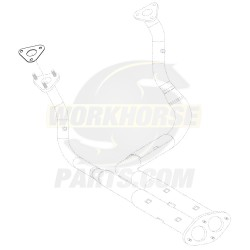 12555806  -  Gasket - Exhaust Manifold Pipe to Downpipe, LH (LR4 - 4.8L & LQ4 6.0L)