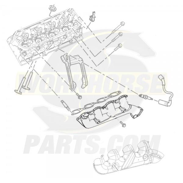 12557283  -  LH Exhaust Manifold, 8.1L