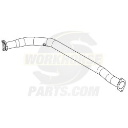 W0003522  -  Exhaust Manifold Downpipe LH