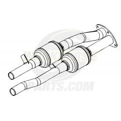 W0011704 - Dual Catalytic Converter Assembly (L31 - 5.7L & LR4 - 4.8L & LQ4 - 6.0L & L29 - 7.4L)