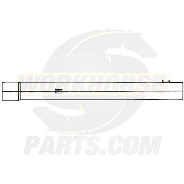 W0013545  -  Pipe Asm - Inter Exhaust  (length 24.96')