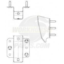 15597852  -  Bracket Asm - Front Bumper Impact Bar, RH
