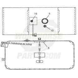 W0010465  -  Tank Asm - Gas 75 Gallon With Auxiliary Draw